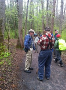 Great memories! Meeting Dr. Thomas (back to camera) on the trail at Sugarlands